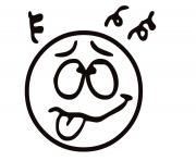 emotion Funny Face2 coloring pages