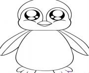 cute baby penguin 85e9 coloring pages