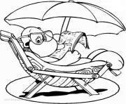 cute turtle enjoying summer 194f9 coloring pages