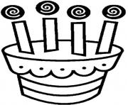 Printable cute birthday cake 6f29 coloring pages