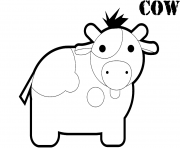 Printable cute cow s2e91 coloring pages