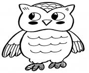 cute cartoon baby owl s to print0528 coloring pages