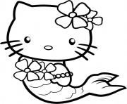 Printable cute hello kitty s as a mermaid6cba coloring pages