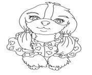 Printable cute small dog s254d coloring pages