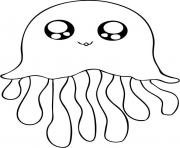 Printable cute jellyfish s17a2 coloring pages