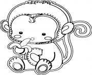 cute monkey s for kids printabled9e1 coloring pages