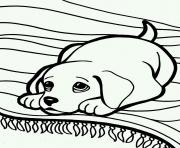 Printable cute sleepy dog 6ea7 coloring pages