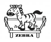 Printable cute preschool s zebra68b4 coloring pages