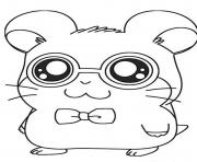 cute dexter hamtaro coloring pages coloring pages