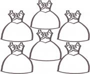 Printable cute dresses 0d6a coloring pages