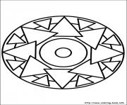 Print easy simple mandala 69 coloring pages