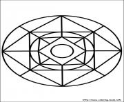 Print easy simple mandala 76 coloring pages