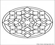 Printable simple free mandalas 10 coloring pages