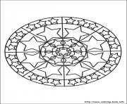 Printable simple free mandalas 25 coloring pages