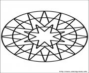 Print easy simple mandala 66 coloring pages