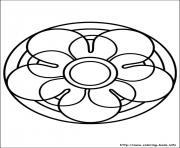 Printable easy simple mandala 67 coloring pages