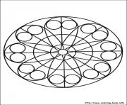 Printable simple free mandalas 20 coloring pages