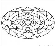 Printable simple free mandalas 12 coloring pages