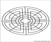 Print simple free mandalas 08 coloring pages