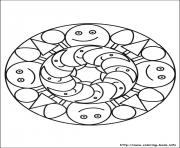 Printable simple free mandalas 17 coloring pages