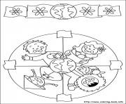 Printable easy simple mandala 49 coloring pages