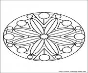 Printable simple free mandalas 16 coloring pages