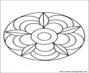 Printable simple free mandalas 02 coloring pages