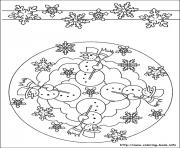 Print easy simple mandala 52 coloring pages