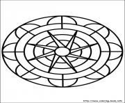 Printable easy simple mandala 72 coloring pages