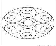 Printable simple free mandalas 01 coloring pages