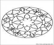 Printable simple free mandalas 21 coloring pages