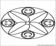 Printable easy simple mandala 73 coloring pages