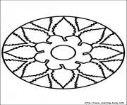Printable easy simple mandala 91 coloring pages