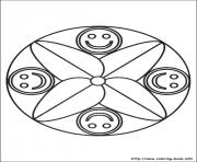 Printable simple free mandalas 04 coloring pages