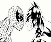 coloring pages spiderman and batman4184 coloring pages