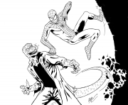 Printable spiderman vs coloring pages