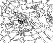Printable spiderman web s1bed coloring pages