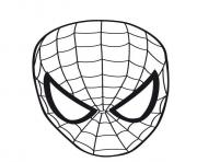 Printable spiderman mask s62c4 coloring pages