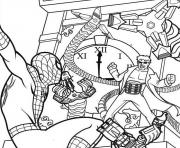 Print spiderman and dr coloring pages