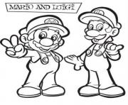 awesome luigi and mario bros sdd58 coloring pages