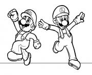 Printable Luigi And Mario Bros S3a4c Coloring Pages