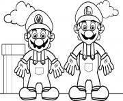Printable mario bros s with luigia727 coloring pages