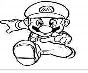 Print running mario bros s2394 coloring pages