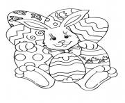 easy easter s bunny and eggs2f09 coloring pages