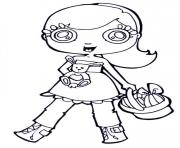 cartoon girl easter s11bc coloring pages