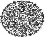 easter eggs mandala se297 coloring pages