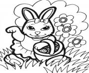 sweet easter s bunny and eggs74cc coloring pages