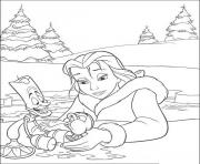 Printable belle helped chip disney princess 2389 coloring pages