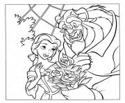 Printable Disney Princess Belle s740a coloring pages