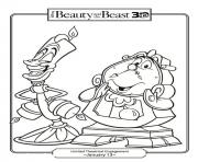 Printable lumiere and mr coloring pages